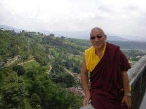 Rinpoche at Khatmandu Amitabha Temple