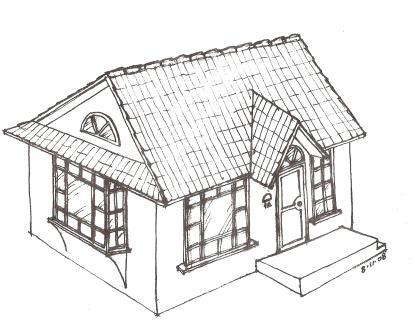 Artists Drawing Of A New Cottage