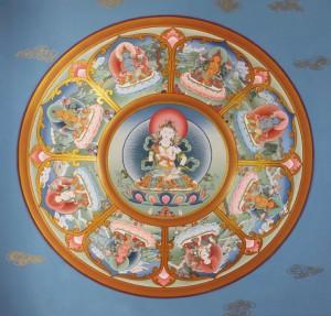 Vajrasattva and 8 Bodhisattva Mandala
