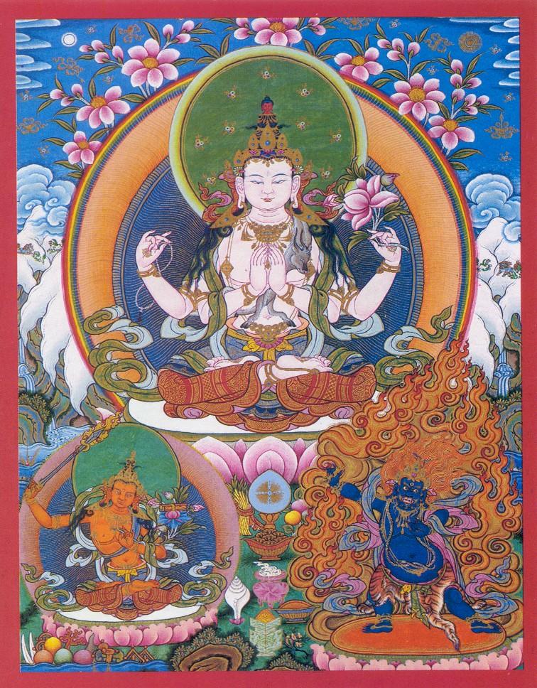 Chenrezig Drubchen at Mundgod monastery