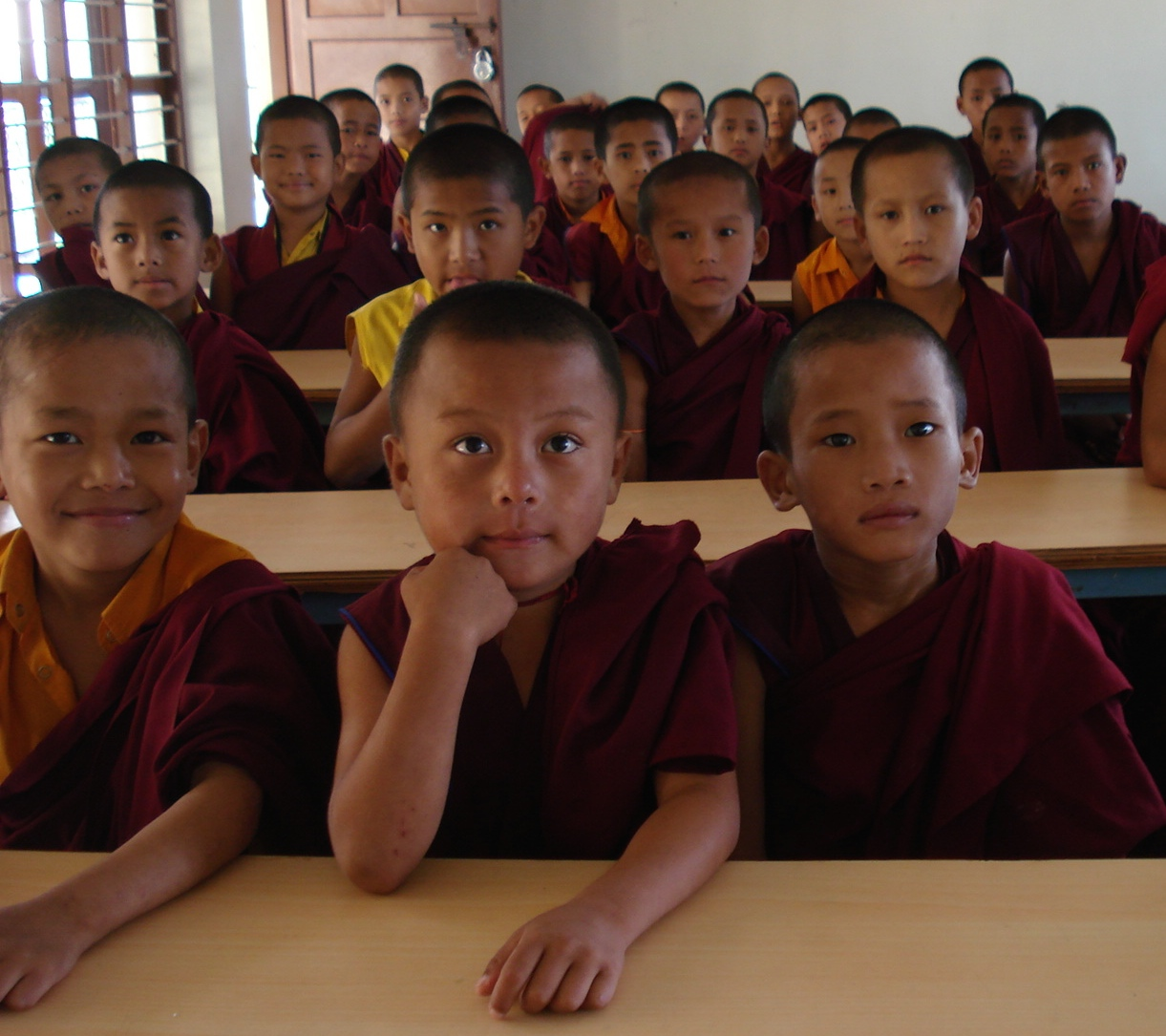 Young Monks at Ayang Rinpoche's Monastery in Bylakuppe, India