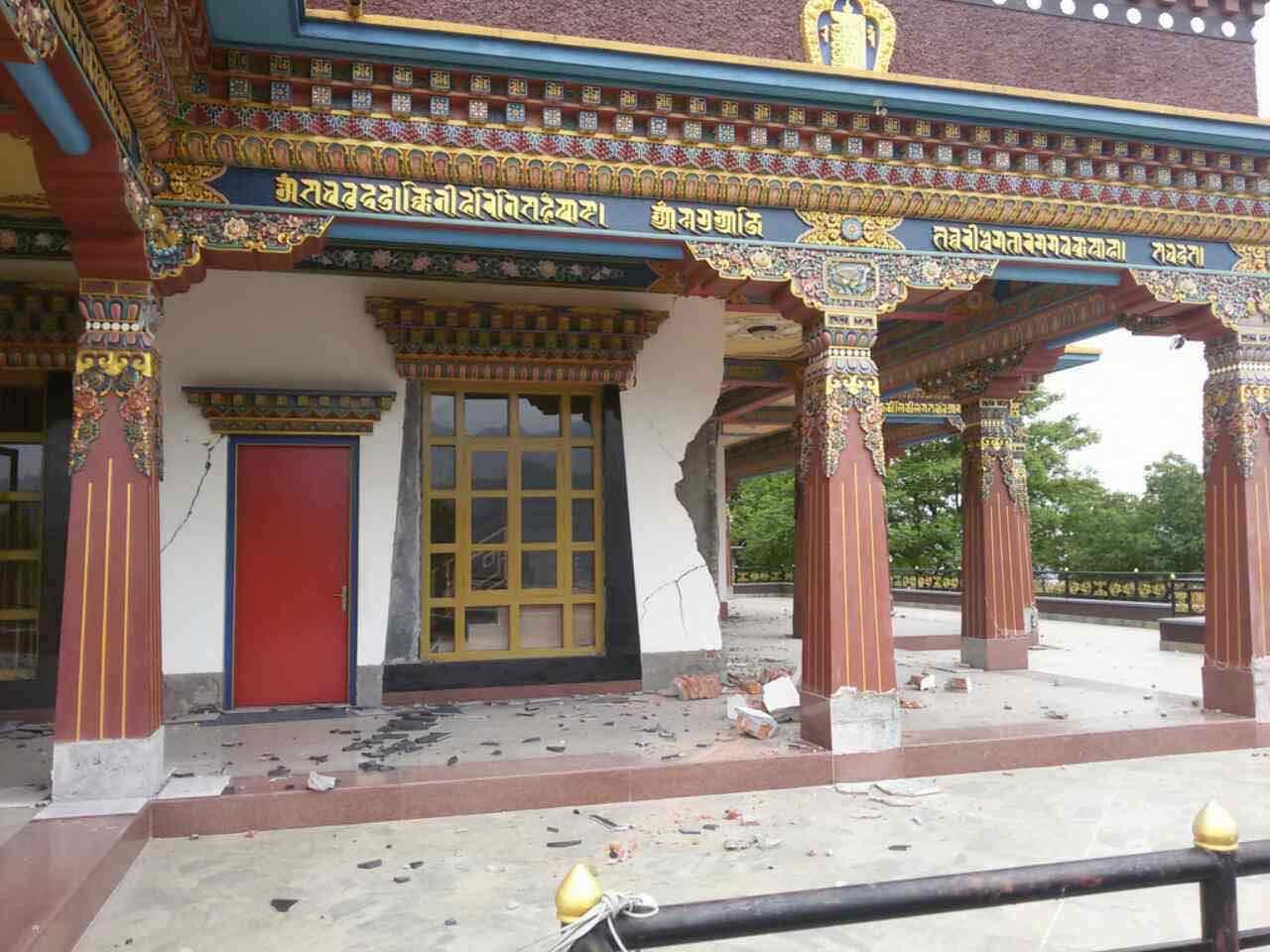 Earthquake damages Amitabha Retreat Center in Nepal