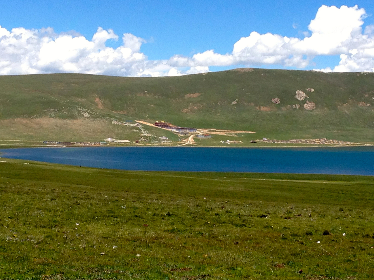 Ayang Gompa and Clinic across the Lake of Compassion, Eastern Tibet