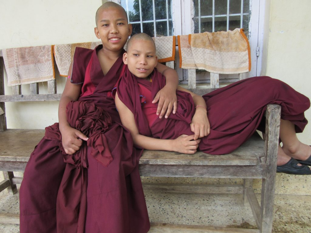 Monks at Ayang Rinpoche's Monastery in Bylakuppe