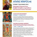 Teachings in Sydney, Australia March 30-April 3, 2018